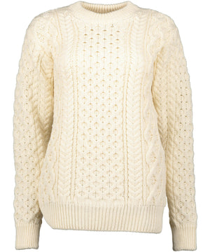 Blasket Aran Sweater - Natural - [Irelands Eye] - Ladies Sweaters & Cardigans - Irish Gifts