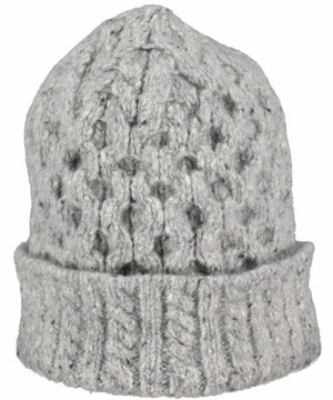 Luxe Aran Hat - Light Grey - [Irelands Eye] - Ladies Hats & Headbands - Irish Gifts