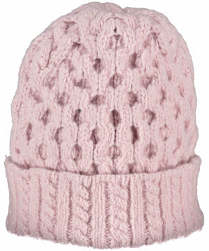 Luxe Aran Hat - Pink Mist - [Irelands Eye] - Ladies Hats & Headbands - Irish Gifts