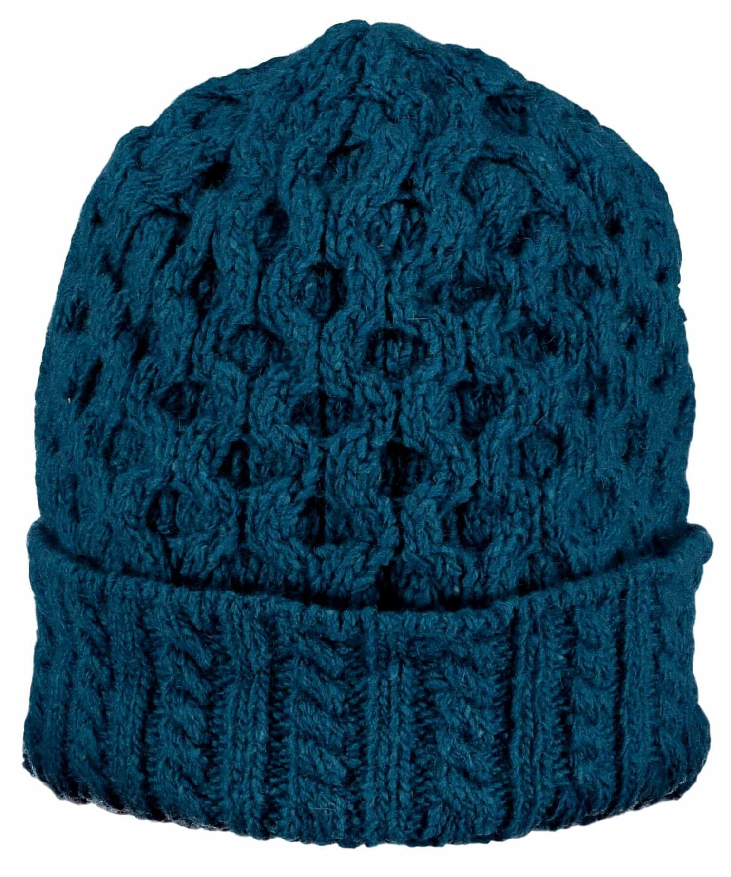Luxe Aran Hat - Teal Harbour - [Irelands Eye] - Ladies Hats & Headbands - Irish Gifts