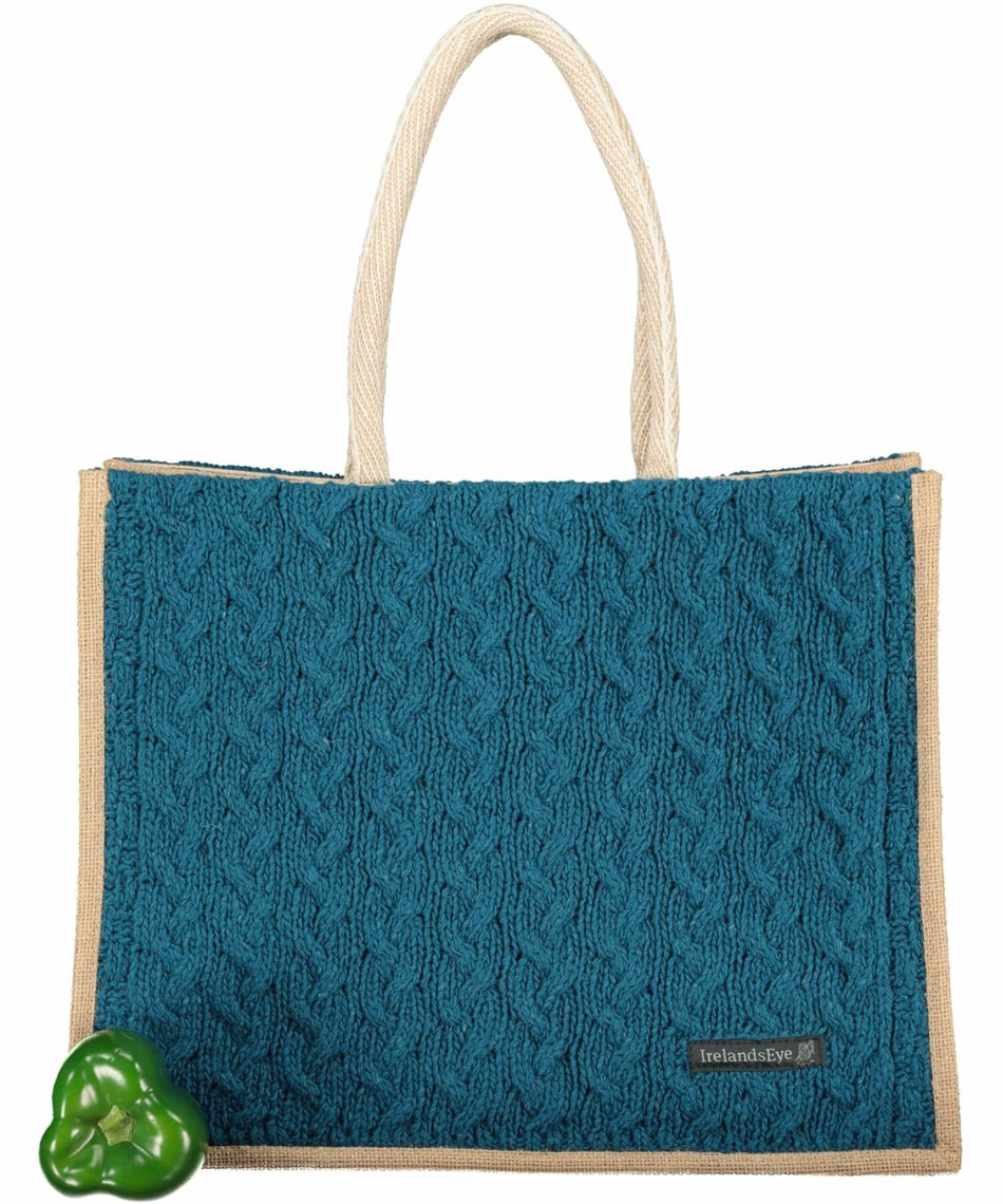Luxe Cable Bag - Teal Harbour - [Irelands Eye] - Bags, Purses & Wallets - Irish Gifts