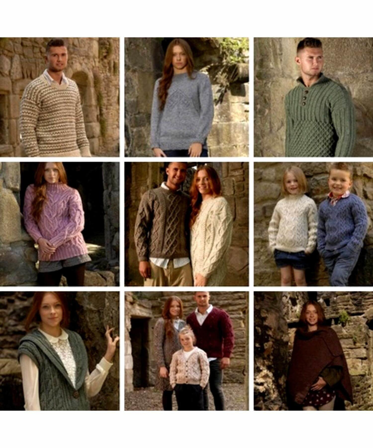 Aran Family Collection (357) - Wendy - [Springwools] - Knitting - Irish Gifts