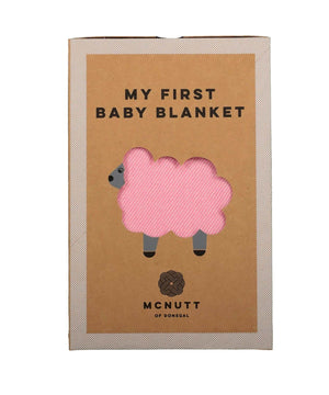 Baby Blanket - Flamingo Pink - [McNutts] - Throws & Cushions - Irish Gifts
