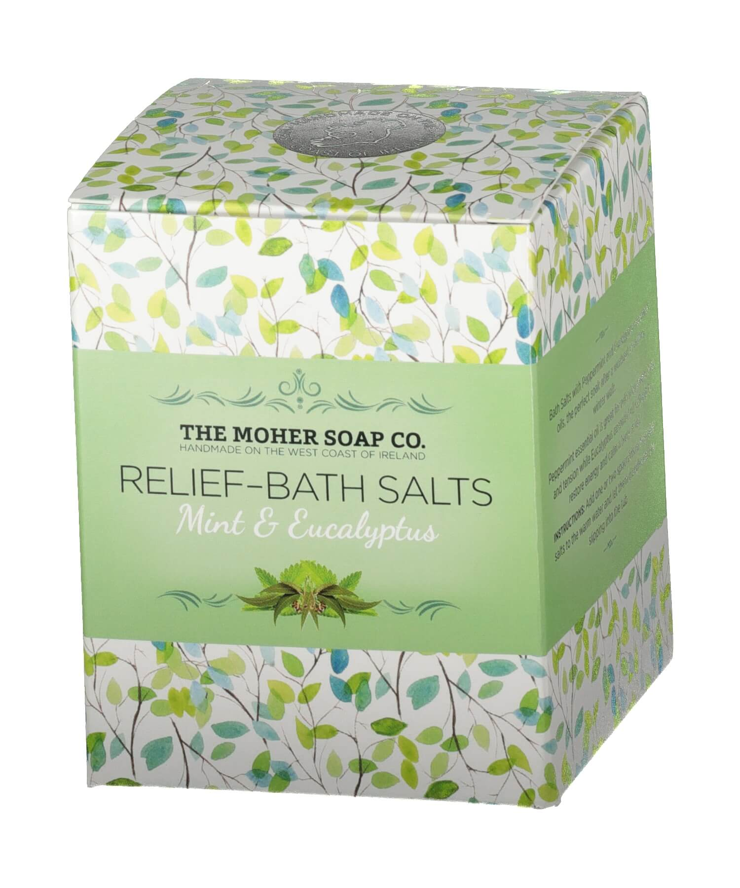 Bath Salts - Mint & Eucalyptus - [The Moher Soap Co.] - Skincare & Beauty - Irish Gifts
