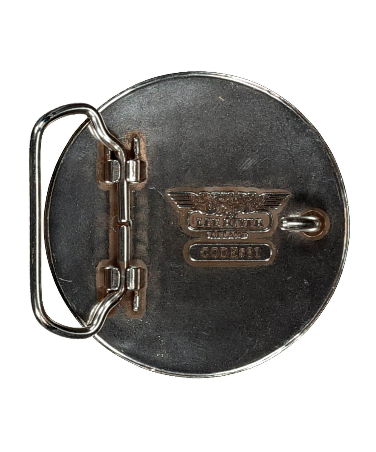 Belt Buckle - Triskel Two Tone - [Lee River] - Leather Belts & Buckles - Irish Gifts