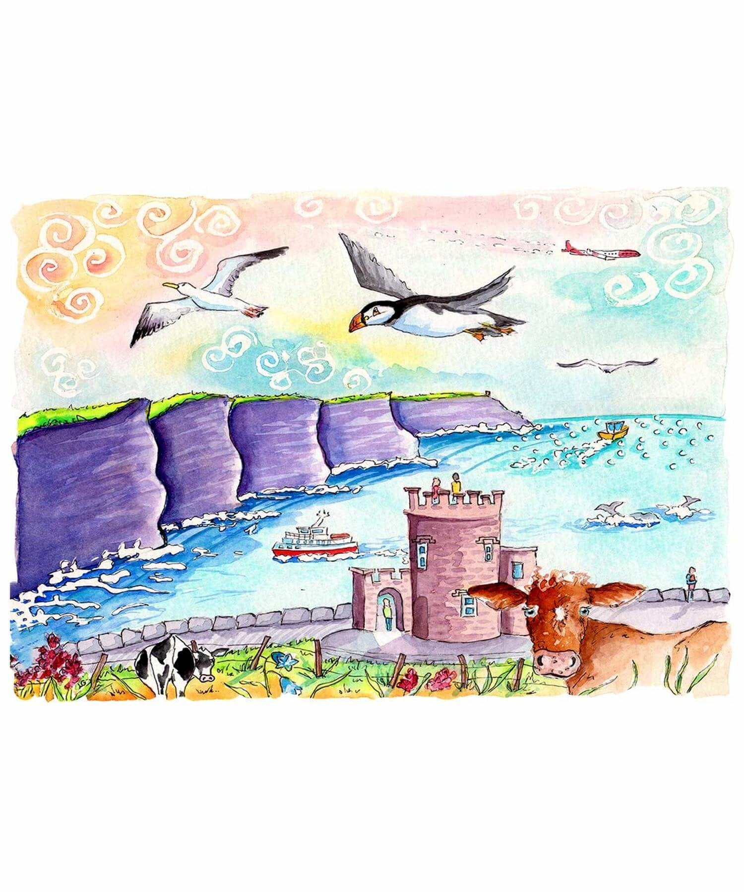 Busy Morning at The Cliffs - [Lani's Art] - Wall Art & Photography - Irish Gifts