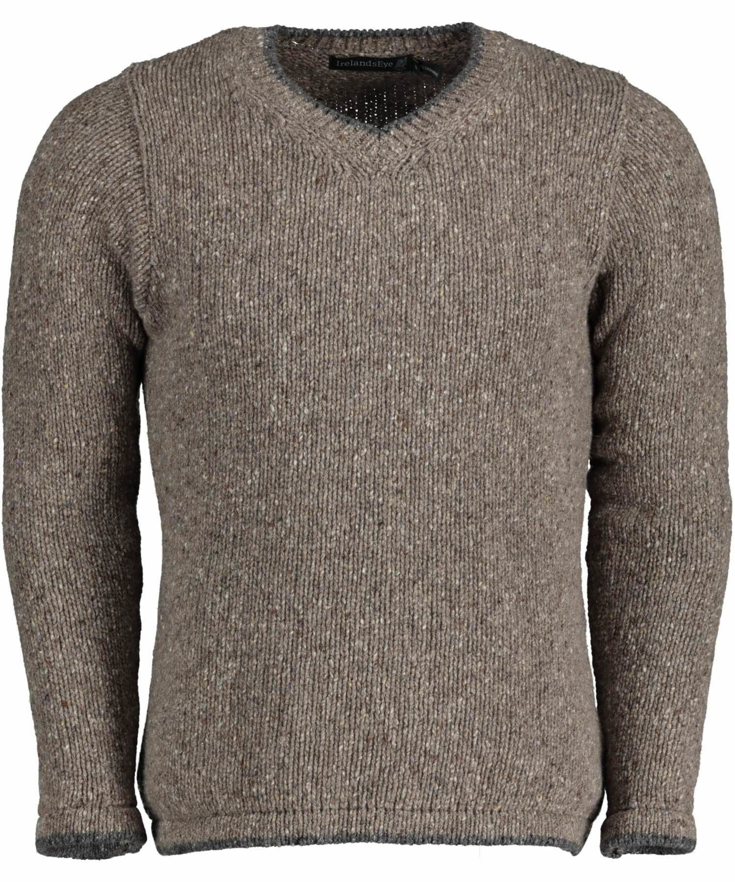 Duncannon V Neck Sweater - Rocky Ground Irelands Eye Mens Sweaters & Cardigans