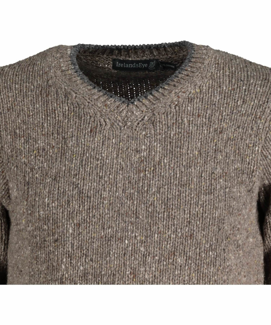 Duncannon V Neck Sweater - Rocky Ground - [Irelands Eye] - Mens Sweaters & Cardigans - Irish Gifts