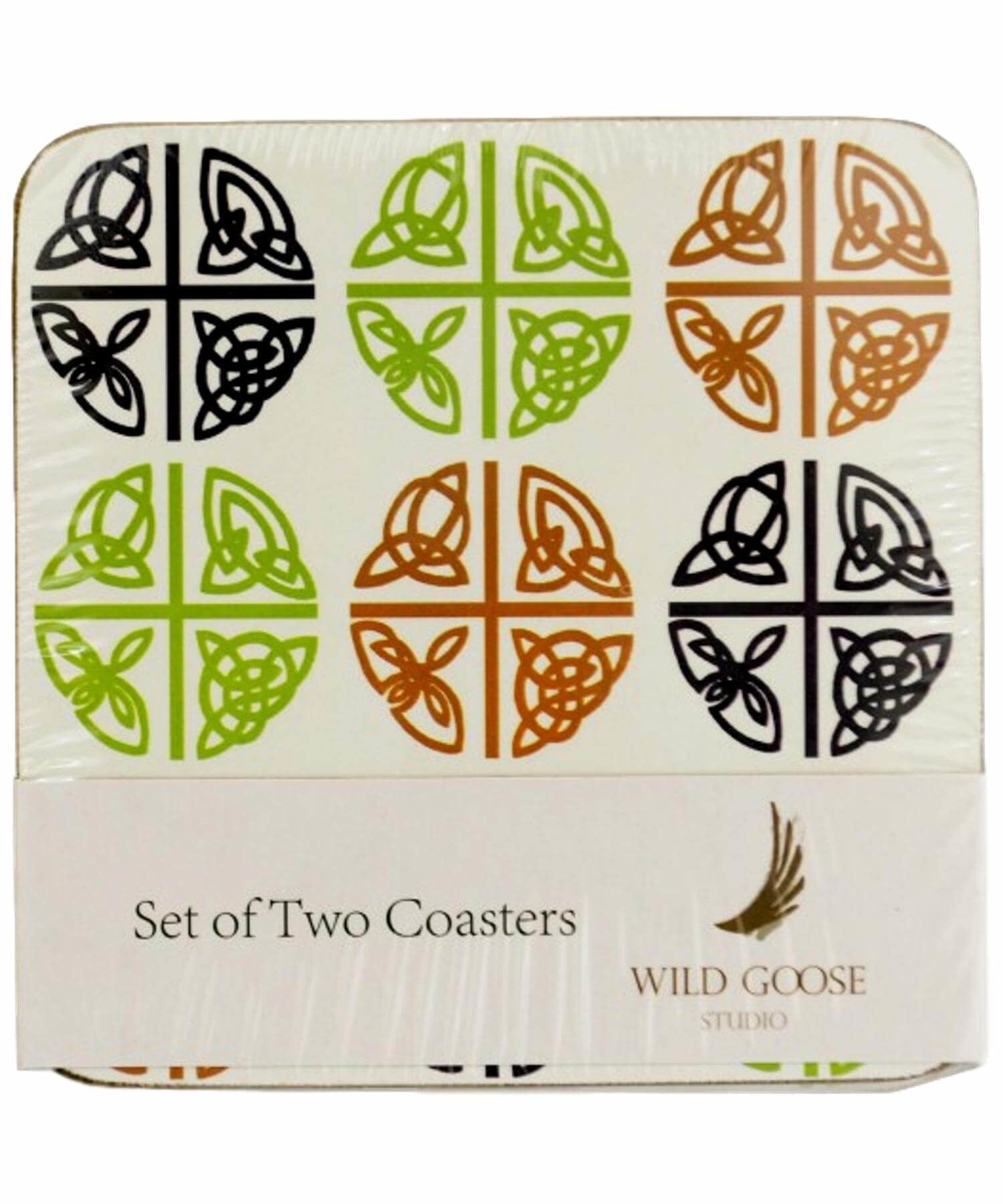 Coaster Set - Celtic Love Crosses Wild Goose Souvenir