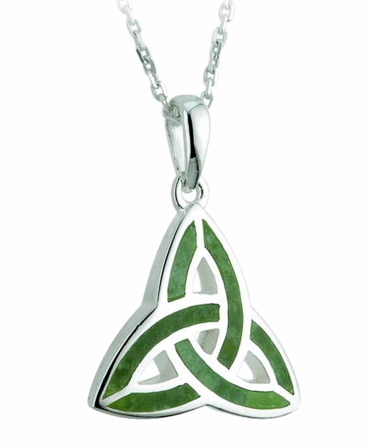 Connemara Marble Trinity Pendant - [Solvar] - Jewellery - Irish Gifts