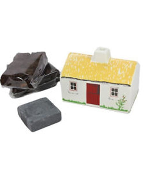 Ceramic Cottage Incense Burner Set - [The Turf Peat Incense Co.] - Souvenir - Irish Gifts