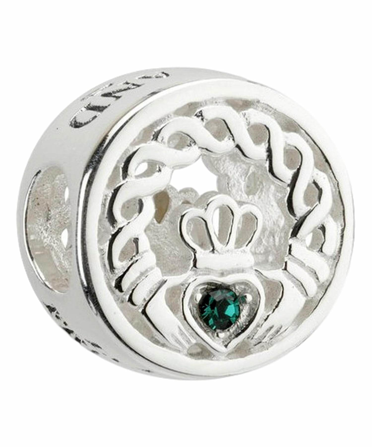 Bead - Crystal Claddagh Solvar Celtic Jewellery