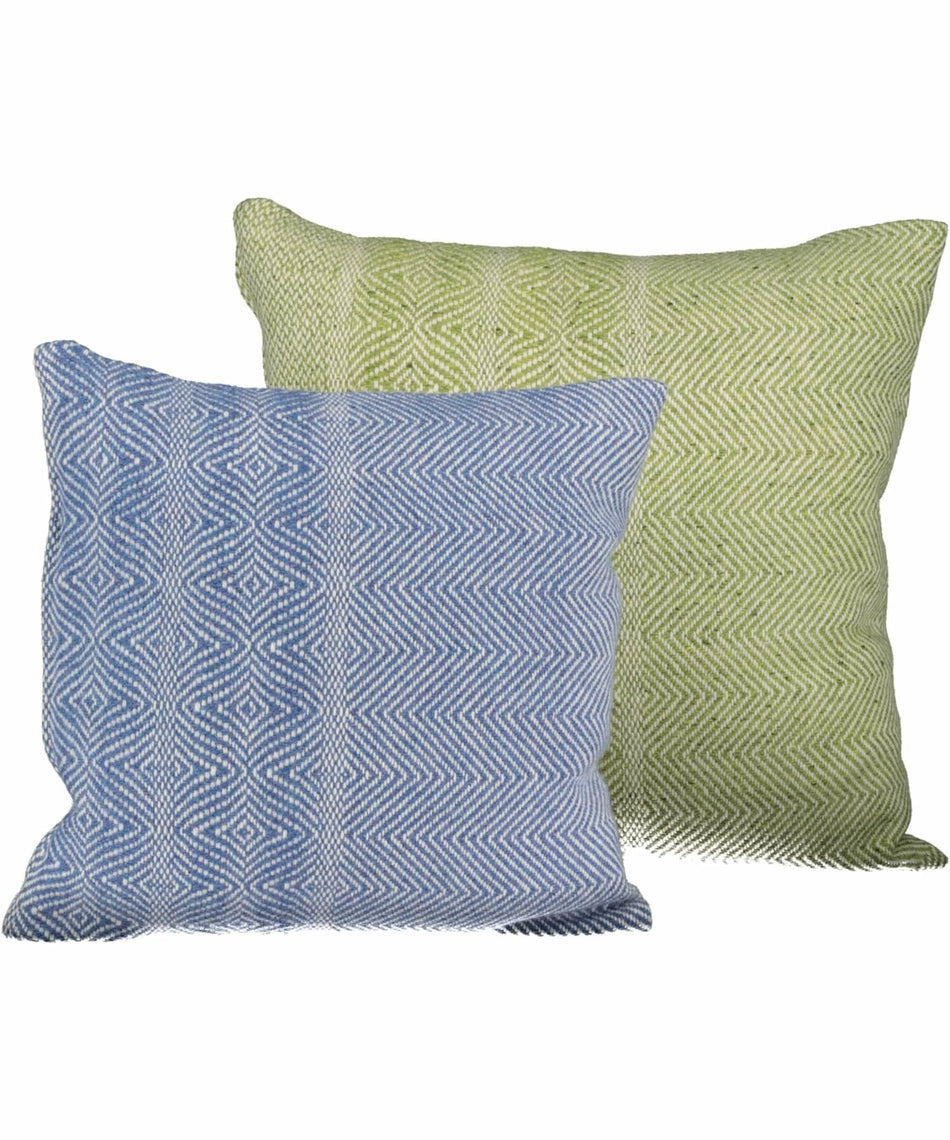 Handwoven Tweed Cushion Cover - Cornflower - [Studio Donegal] - Throws & Cushions - Irish Gifts