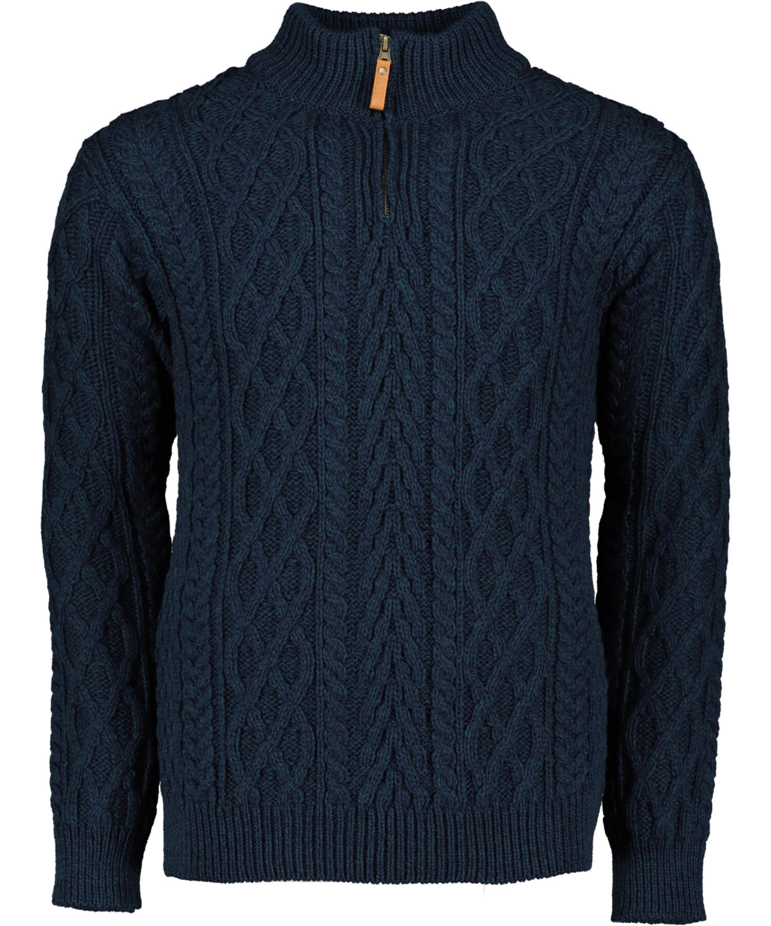 Donegal Half Zip Sweater - Sherwood Aran Crafts Mens Sweaters & Cardigans