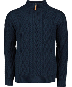 Donegal Half Zip Sweater - Sherwood - [Aran Crafts] - Mens Sweaters & Cardigans - Irish Gifts