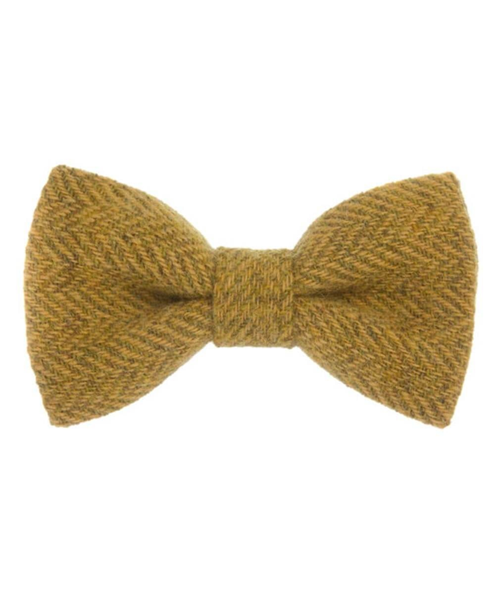 Donegal Tweed Bow Tie - Amber - [Orwell & Browne] - Mens Accessories - Irish Gifts