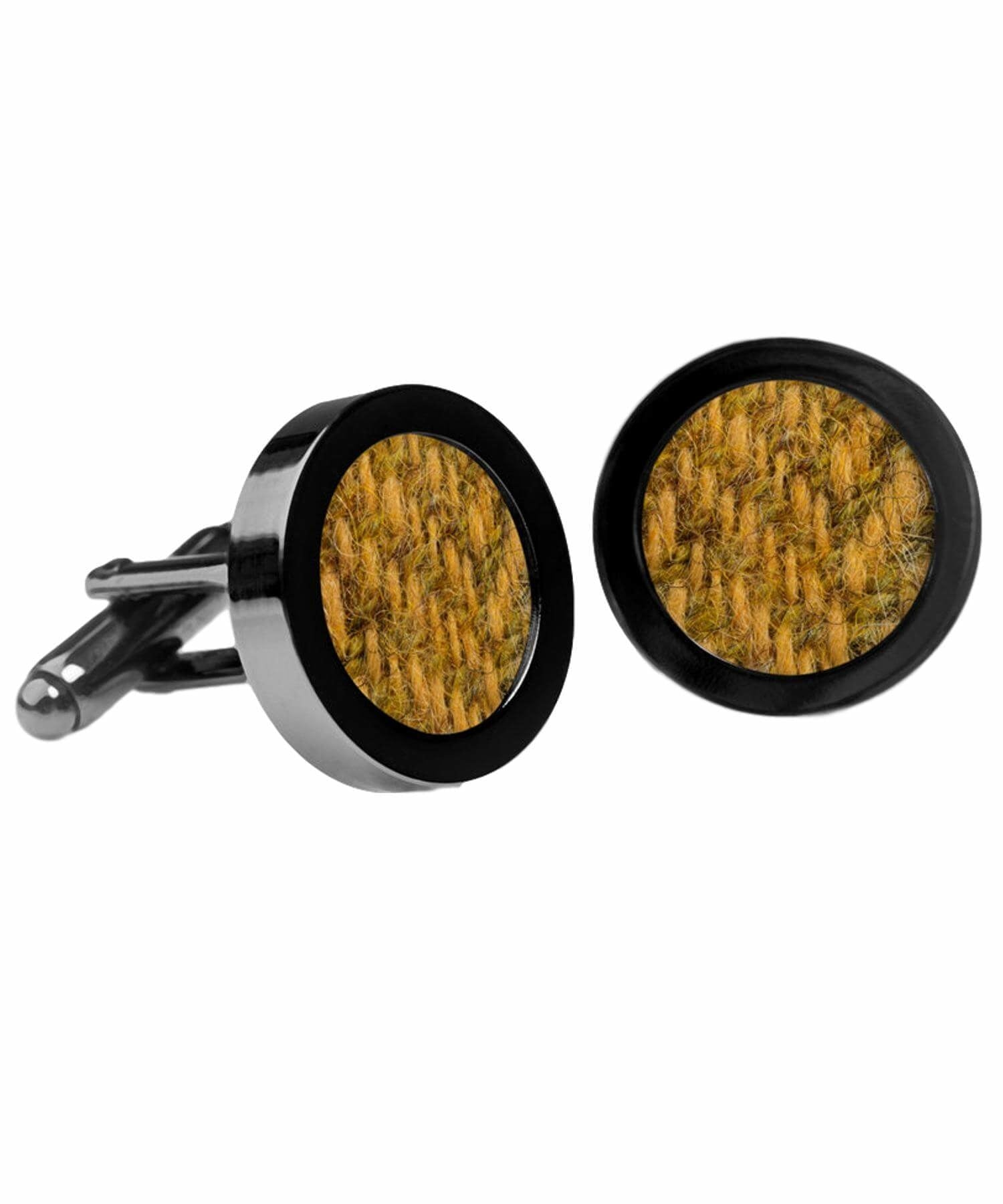 Donegal Tweed Cufflinks - Amber - [Orwell & Browne] - Jewellery - Irish Gifts