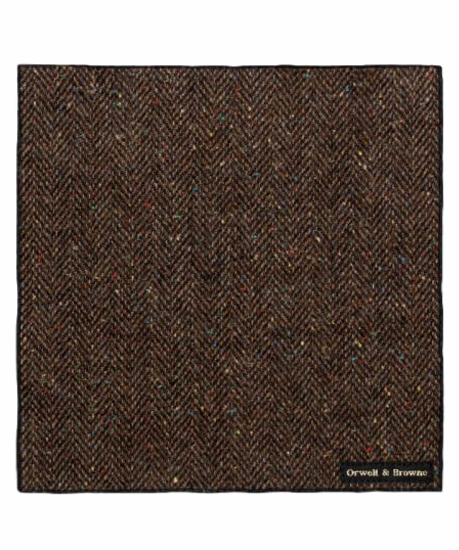 Donegal Tweed Pocket Square - Freckled Sod - [Orwell & Browne] - Mens Accessories - Irish Gifts