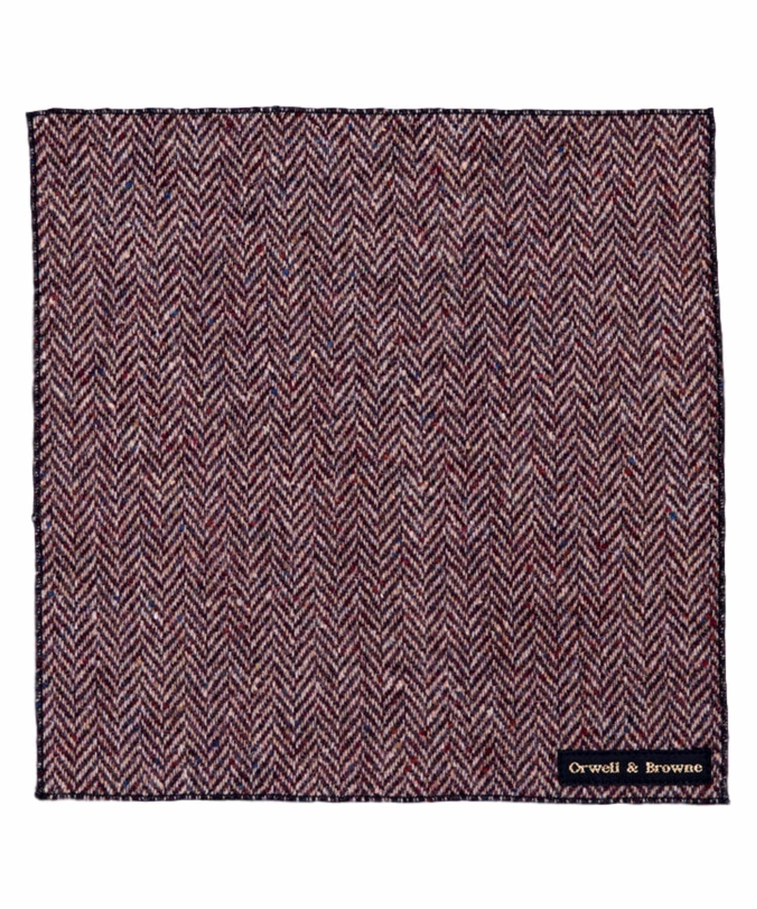 Donegal Tweed Pocket Square - Rubicund - [Orwell & Browne] - Mens Accessories - Irish Gifts