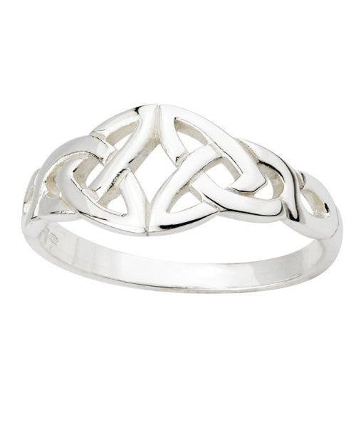 Double Trinity Knot Ring - [Solvar] - Jewellery - Irish Gifts