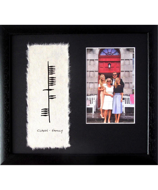 Ogham - Family with Photo Wishes Wall Art Prints & Photography