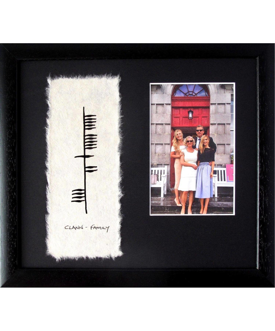 Ogham - Family with Photo - [Ogham Wishes] - Wall Art & Photography - Irish Gifts