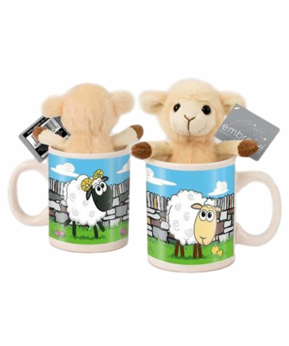 Fluffy Sheep & Mug Set - [Killarney Printing] - Souvenir - Irish Gifts