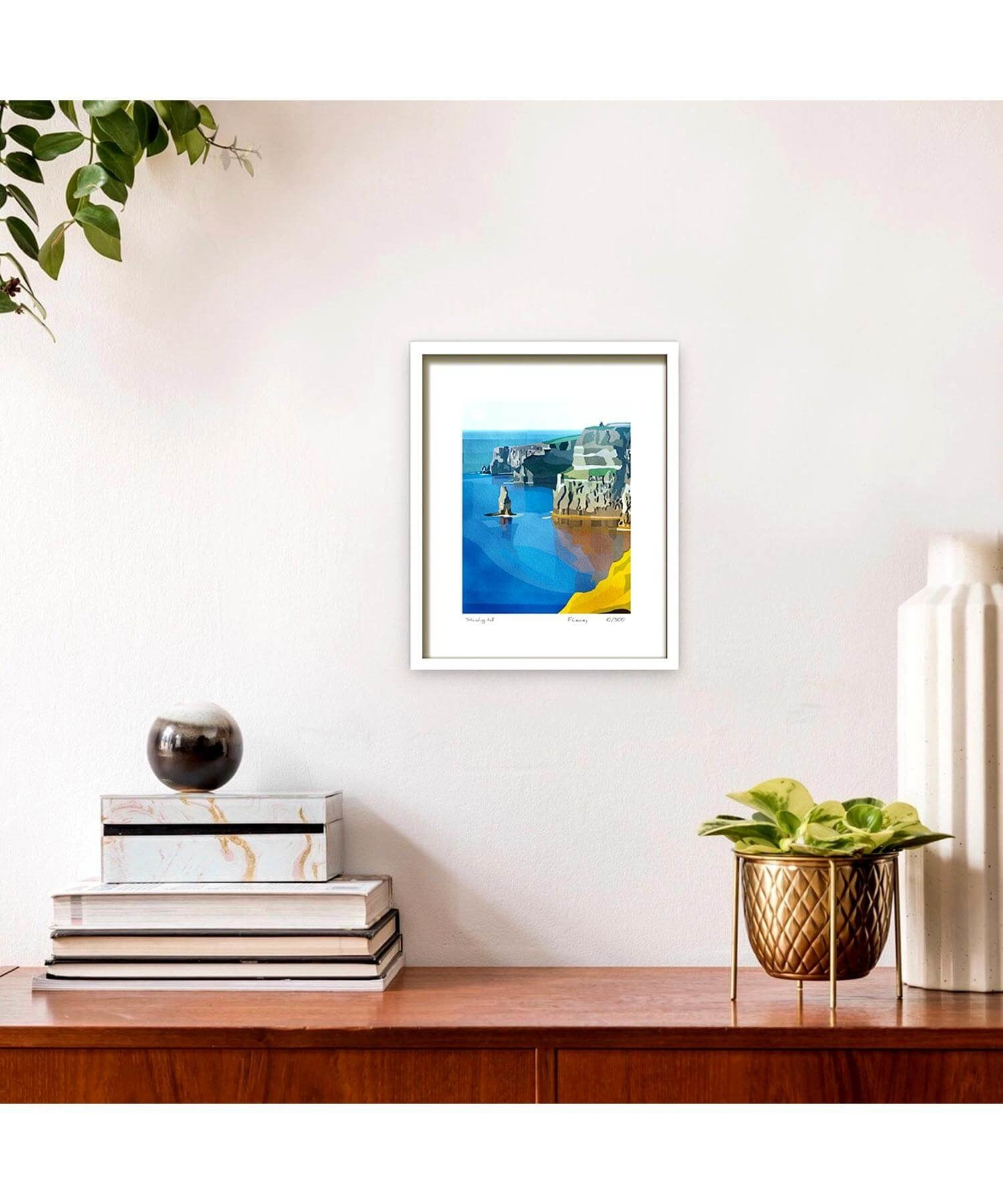 Mounted Print - Standing Tall Fab Cow Wall Art & Photography