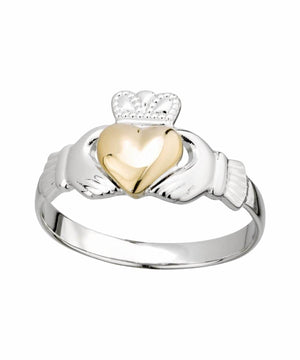 Gold Heart Claddagh Ring - [Solvar] - Jewellery - Irish Gifts