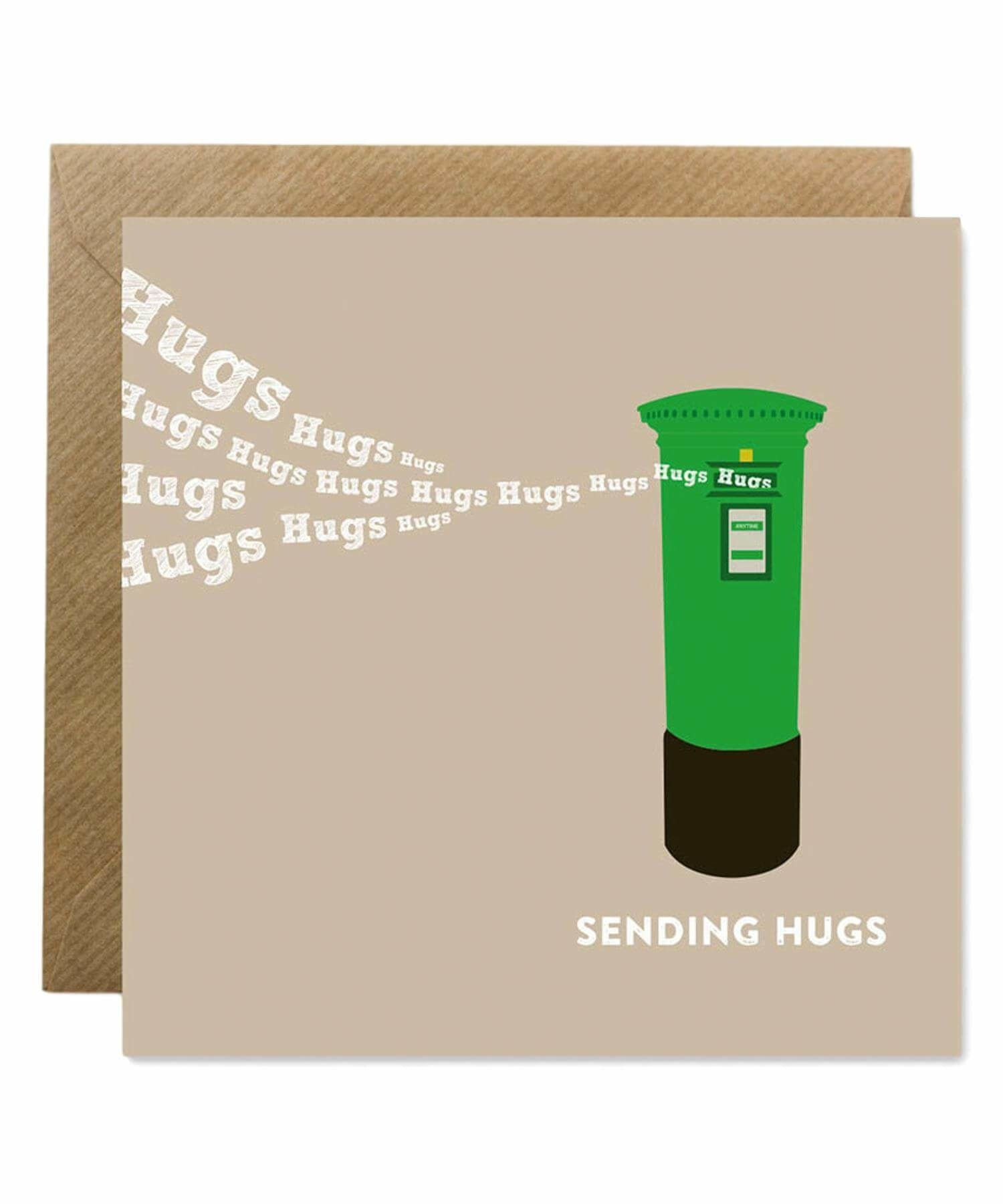 Greeting Card - Sending Hugs - [Bold Bunny] - Greeting Cards - Irish Gifts