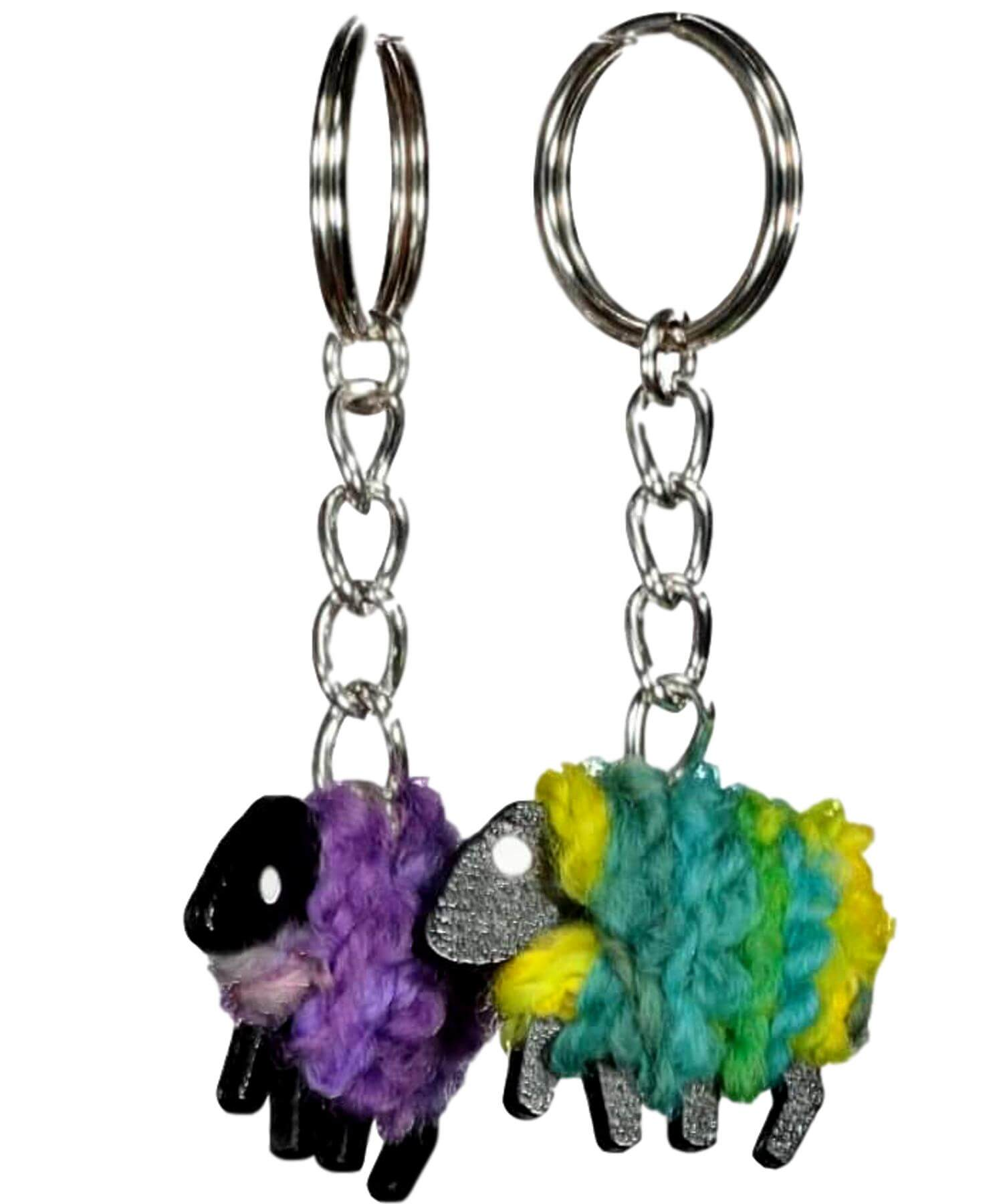 Handcrafted Sheep - Key Ring - [Liz Christy] - Souvenir - Irish Gifts