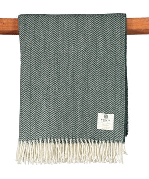 Heritage Wool Throw - Spruce - [McNutts] - Throws & Cushions - Irish Gifts