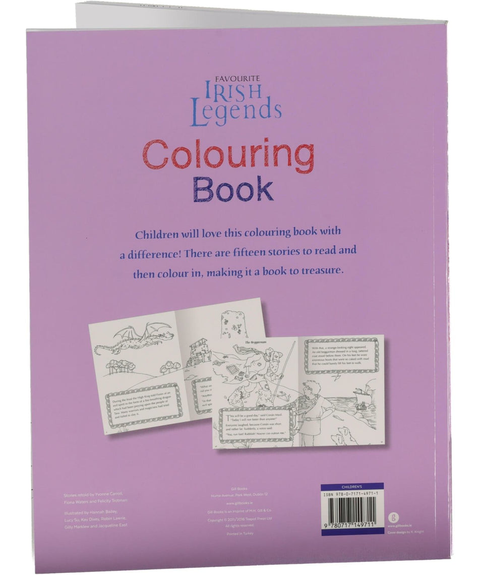 Irish Legends Colouring Book - [Gill & MacMillan] - Books & Stationery - Irish Gifts