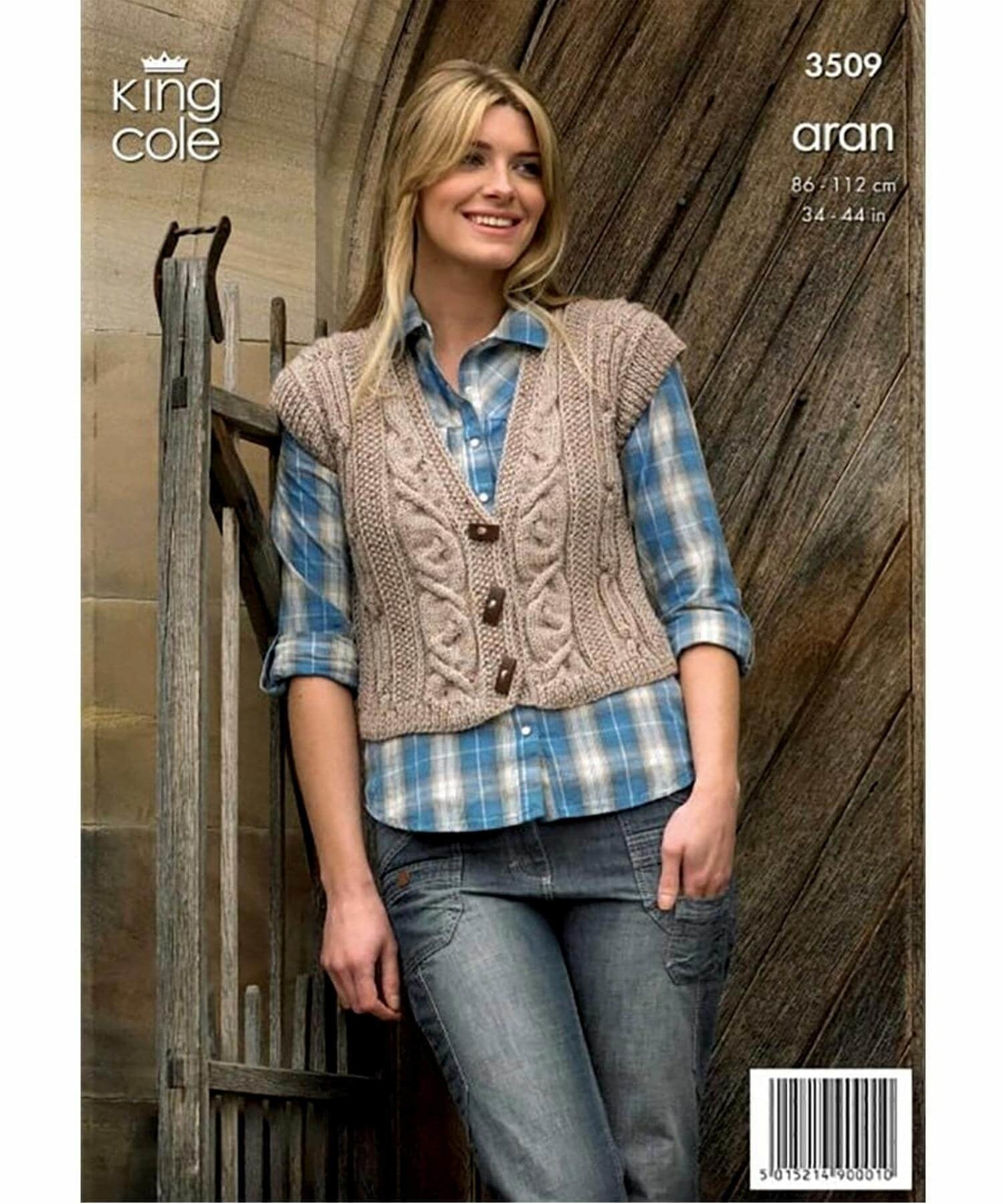 King Cole Aran Pattern 3509 - [Springwools] - Knitting - Irish Gifts