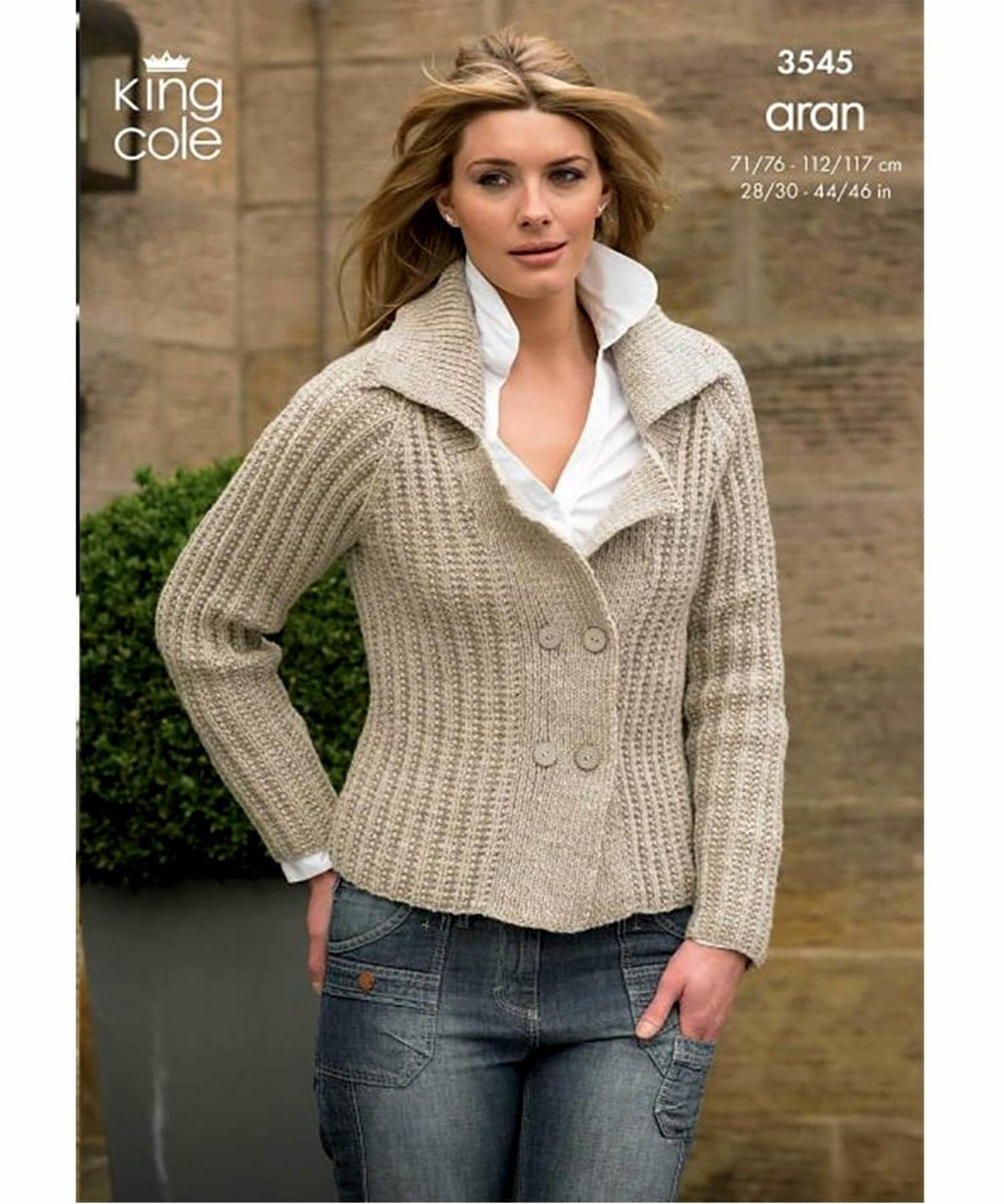 King Cole Aran Pattern 3545 - [Springwools] - Knitting - Irish Gifts