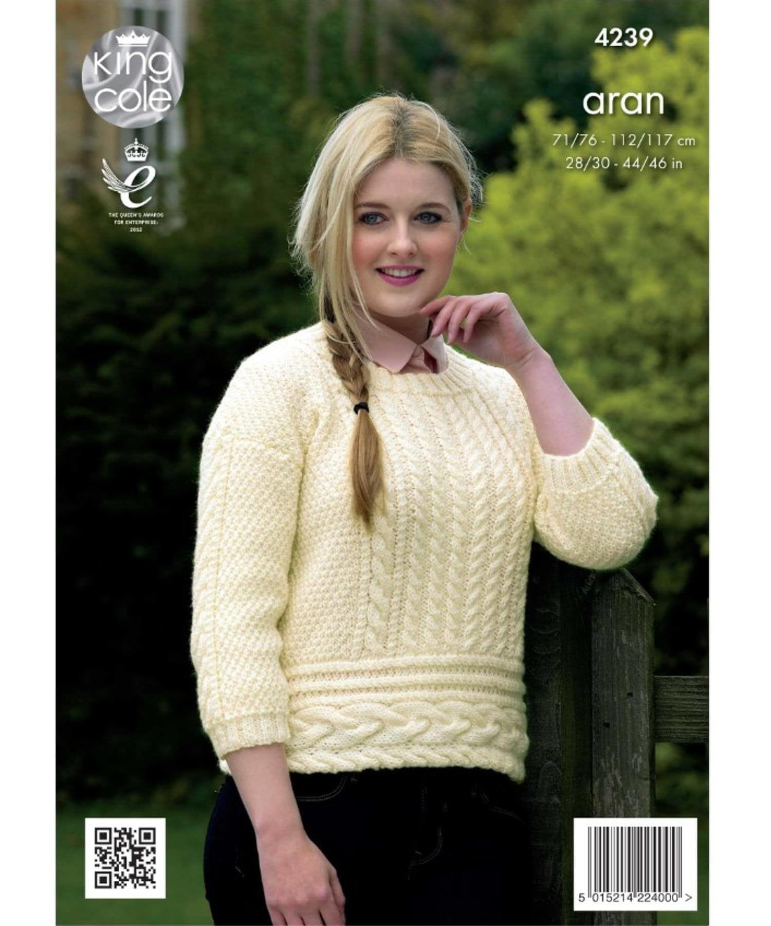 King Cole Aran Pattern 4239 - Irish Crafts