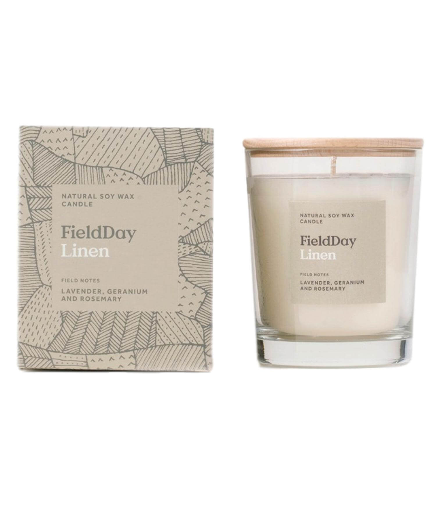 Linen Large Candle - [Field Day] - Home Fragrance - Irish Gifts