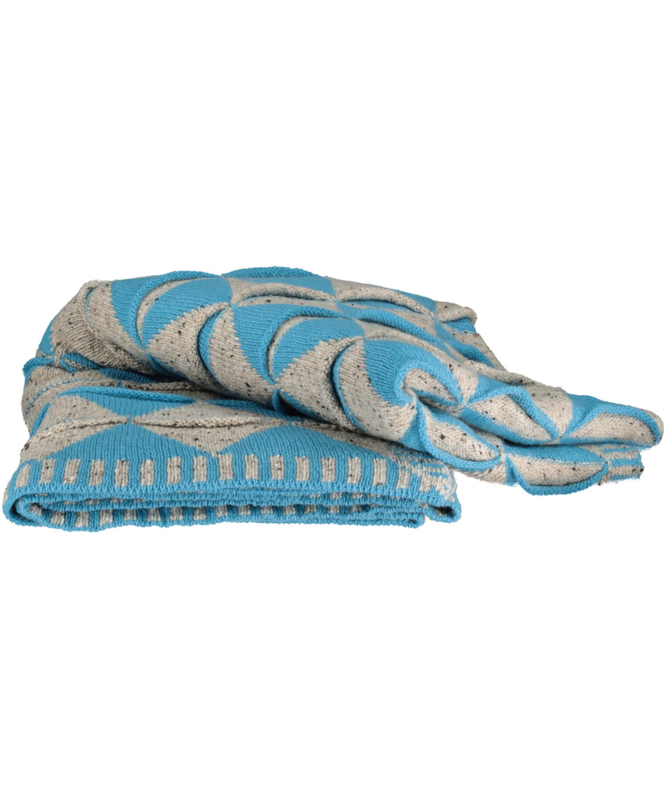 Harlequinn Throw - Blue - [McConnell] - Throws & Cushions - Irish Gifts
