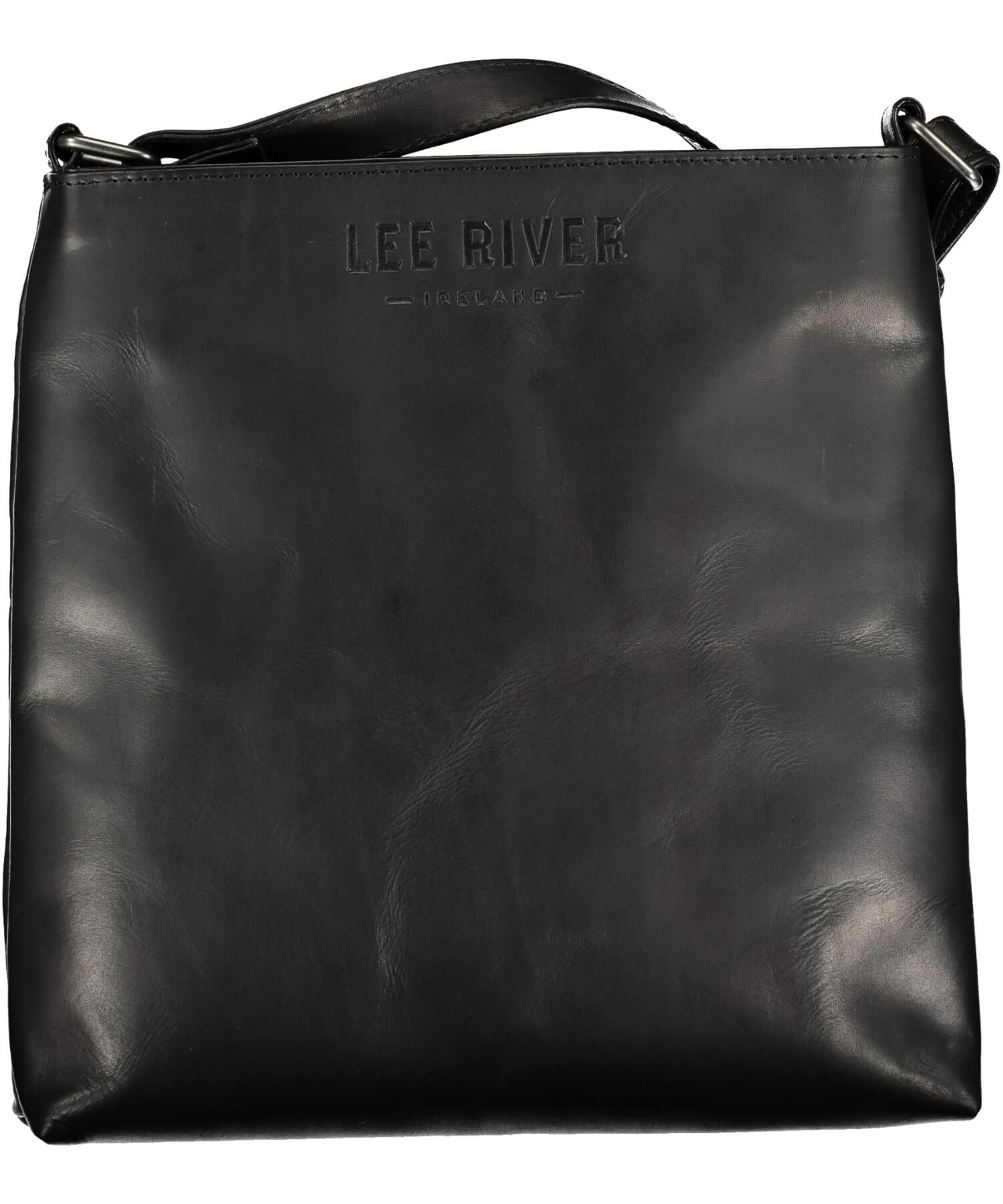Mary Embossed Day Bag - Black - [Lee River] - Bags, Purses & Wallets - Irish Gifts