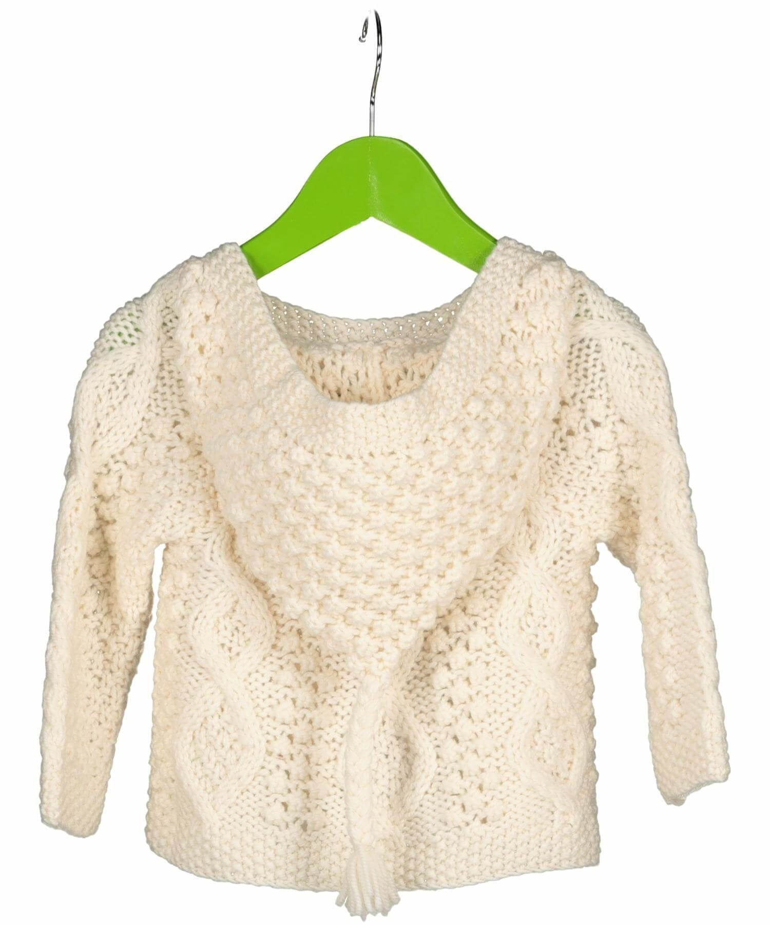 Baby Hoodie - Winter White - [Aran Woollen Mills] - Childrens Sweaters & Cardigans - Irish Gifts