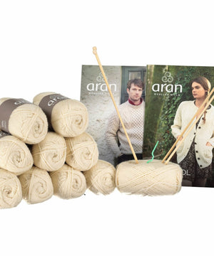 Knitting Kit - Natural - [Aran Woollen Mills] - Knitting - Irish Gifts