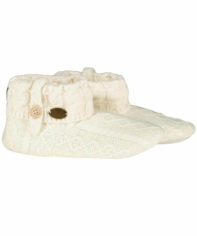 Adult Knitted Boot Slippers - [Aran Woollen Mills] - Socks & Slippers - Irish Gifts
