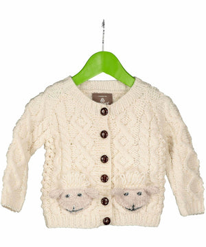 Baby Shepley Button Cardigan - [Aran Woollen Mills] - Childrens Sweaters & Cardigans - Irish Gifts