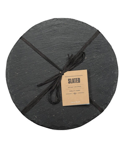 Round Cheese Board - [Slated] - Wood & Slate - Irish Gifts