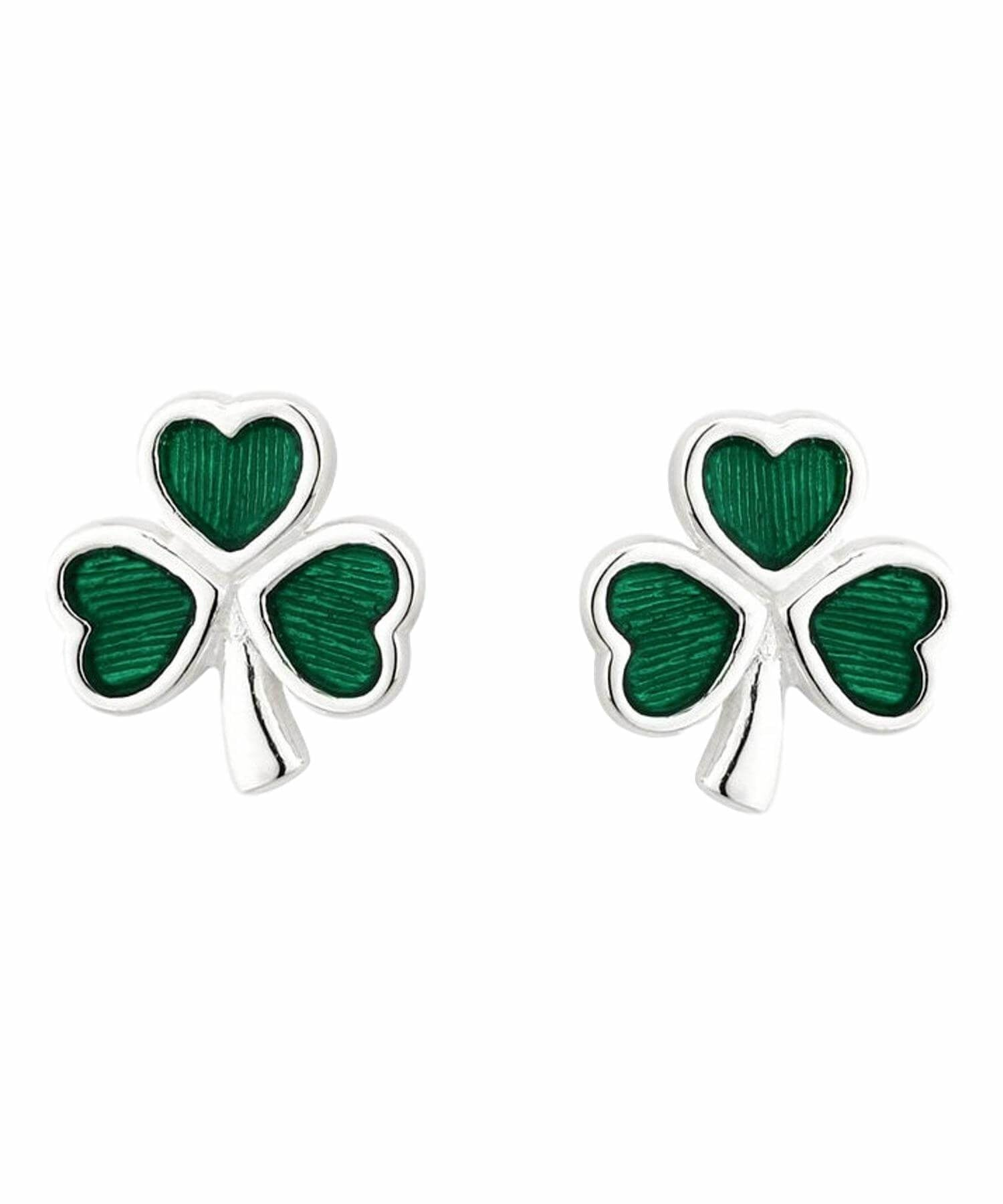 Shamrock Stud Earrings Solvar Celtic Jewellery