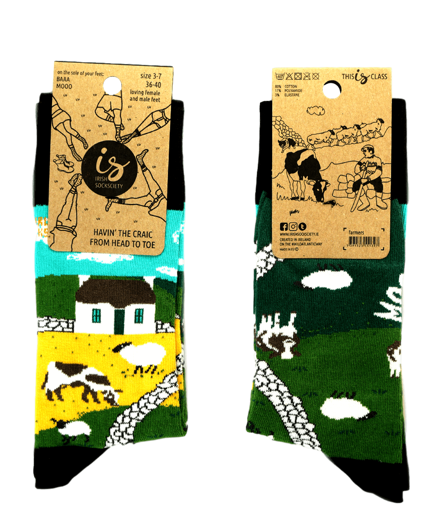 Socks - Irish Landscape - [Irish Socksciety] - Socks & Slippers - Irish Gifts