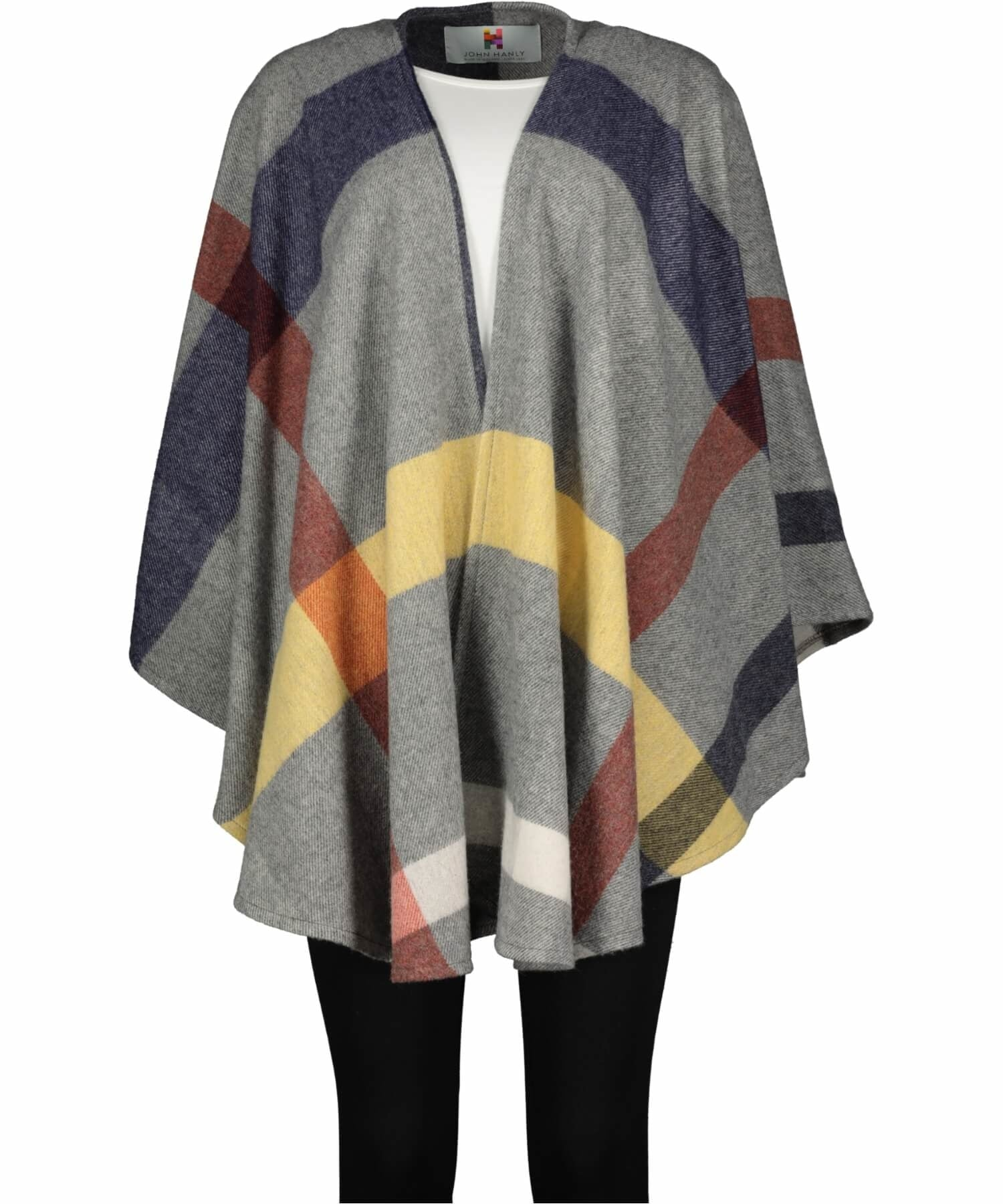 Sue Cape - City Check - [John Hanly] - Ladies Capes, Shawls & Ponchos - Irish Gifts