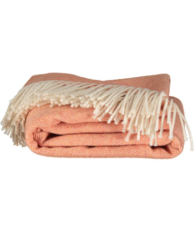 Supersoft Lambswool Throw - Clementine - [McNutts] - Throws & Cushions - Irish Gifts