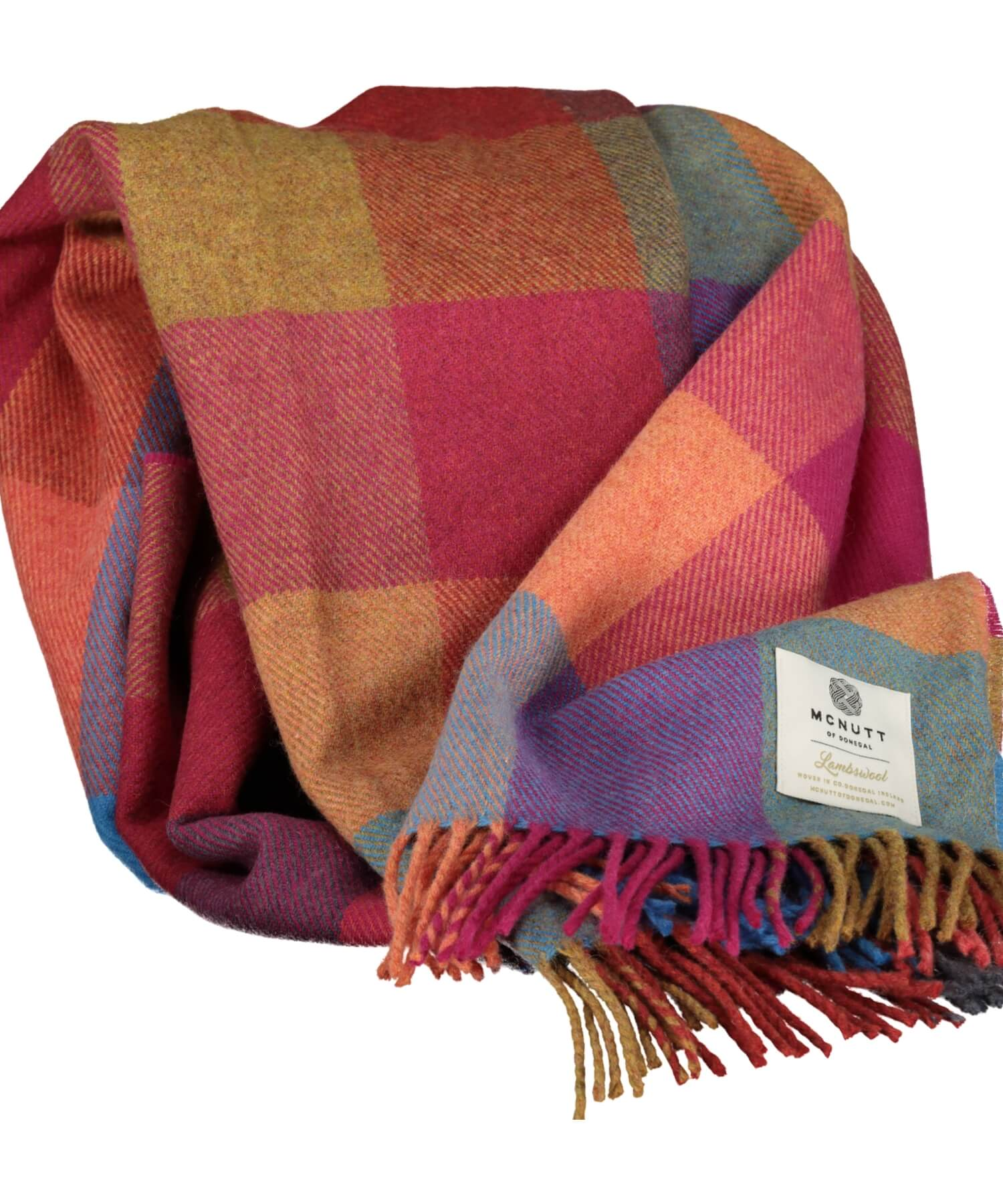 Supersoft Lambswool Throw - Joseph Check - [McNutts] - Throws & Cushions - Irish Gifts