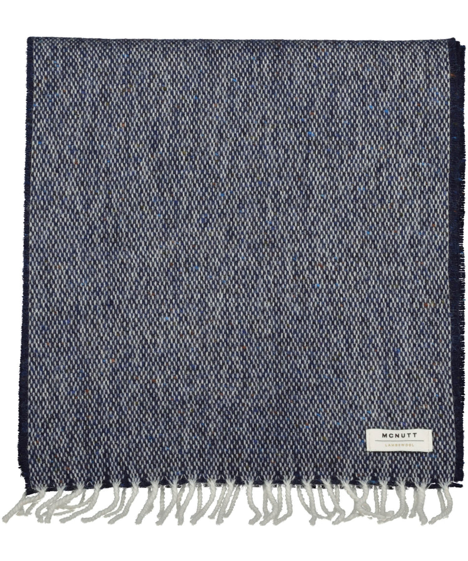 Tweed Scarf - Donegal Navy - [McNutts] - Unisex Scarves - Irish Gifts